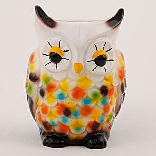 Owl Shaped Resin Vase Multicolor: Pots for Plants