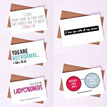 Pack of Amusing Love Cards: Greeting Cards