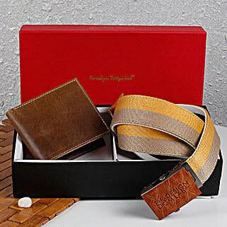 Paradigm Brown Wallet N Belt Combo: Handbags and Wallets