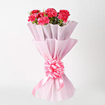 Passionate Pink Carnations Bouquet: Friendship Day Gifts- Same Day