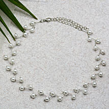 Pearl Bar Silver Choker: Send Jewellery Gifts