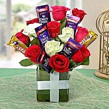 Perfect Choco Flower Arrangement: Christmas Flowers