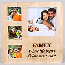 Perfect Family Personalised Photo Frame: Personalised Engraved