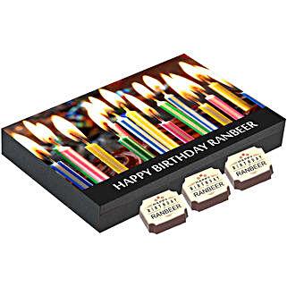 Personalised 12 Chocolate Box For Birthday: Send Personalised Chocolates for Husband