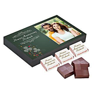 Personalised Anniversary Chocolate Box- Green: Personalised Chocolates Mumbai