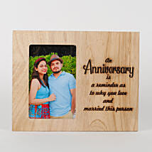 Personalised Anniversary Engraved Frame: Personalised Photo Frames