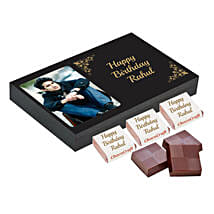 Personalised Birthday Chocolate Box- Black: Personalized Chocolate Gifts