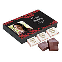 Personalised Birthday Decorated Chocolate Box: Customized Gifts for Her