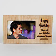 Personalised Birthday Engraved Frame: Personalised Photo Frames
