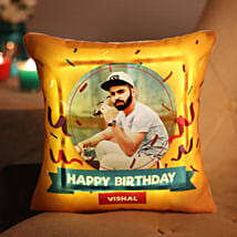 Personalised Birthday LED Cushion: Birthday Gifts for Him