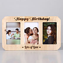 Personalised Birthday One Personalised Wooden Photo Frame: Customized Gifts for Her