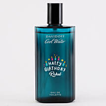 Personalised Davidoff Cool EDT Bottle For Men: Personalised Gifts for Him