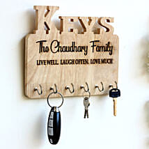 Personalised Engraved Family Name Key Holder: Personalised Gifts for Men