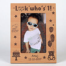 Personalised First Birthday Photo Frame: Personalised Photo Frames Gifts