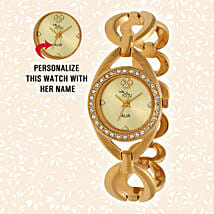 Personalised Graceful Golden Watch: Personalised gifts for anniversary