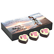 Personalised Hug Day Heart Chocolates: Send Pooja Thali to Jaipur