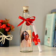 Personalised Image & Message In A Bottle: