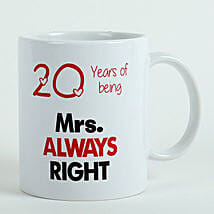 Personalised Mrs Right Mug: Send Gifts to Kasaragod