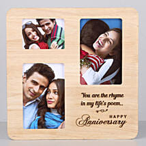 Personalised One Personalised Wooden Frame For Anniversary: Personalised Engraved