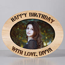 Personalised Oval Photo Frame-Birthday: Personalised Photo Frames Gifts