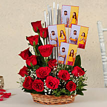 Personalised Red Roses Arrangement: