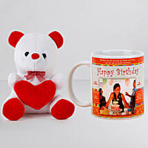 Personalised White Mug With Teddy: Gift Combos