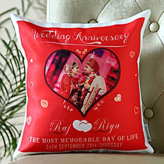 Personalized Anniversary Cushion: Anniversary Gifts