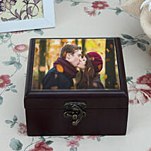Personalized Brown Wooden Box: Unique Valentine Gifts