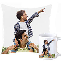 Personalized Cushion and Mug For Dad: Send Personalised Mugs to Pune