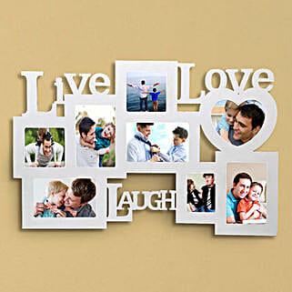 Personalized Live Love Laugh Frame: Send Photo Frames