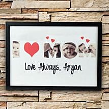 Personalized Love Alaways Frame: Home Décor Gifts for Mothers Day
