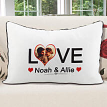 Personalized Pillow Cover White: Valentine Personalised Gifts for Her