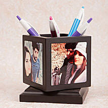 Personalized Rotating Pen Holder: Anniversary Personalised Gifts