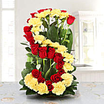 Personalised Floral Arrangement: Personalised Gifts Panvel