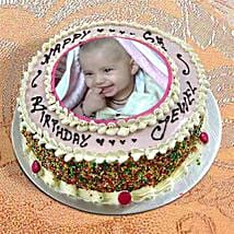 Photo Cake Vanilla Sponge: Birthday Cakes for Sister