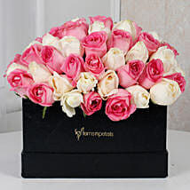 Pink N White Floral Delight: 1St Anniversary Gifts
