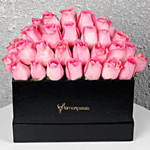 Pink Roses Box of Happiness: Send Valentine Gifts for Her