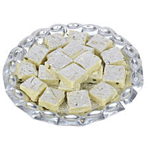 Pista Burfi In Silver Tray: Sweets to Pune