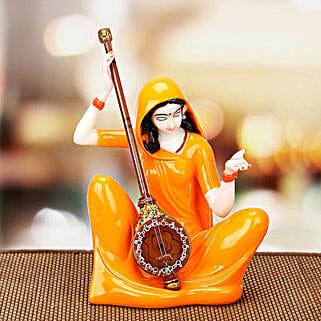 Premium Marble Mirabai Idol: Send Handicraft Gifts to Mumbai