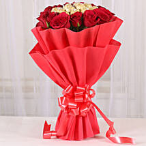 Premium Rocher Bouquet: Send Flowers & Chocolates to Indore