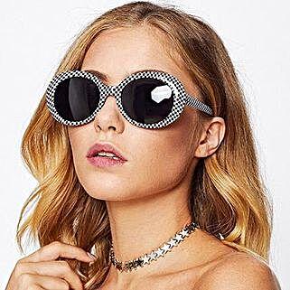 Prishie Checkered Sunglasses For Female: Sunglasses