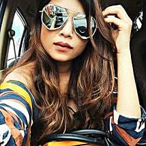 Prishie Snazzy Silver Sunglasses For Female: Sunglasses Gifts
