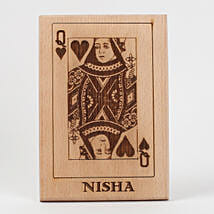 Queen of Hearts Wooden Plaque: Birthday Gifts for Wife