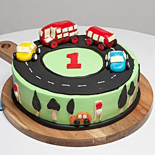Race Track First Birthday Cake: Designer Birthday Cakes