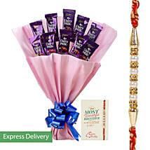 Rakhi Dairy Milk Combo: Send Rakhi to Gujrat
