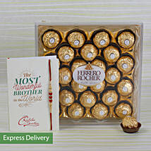 Rakhi Rocher Combo: Send Rakhi to Latur
