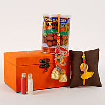 Rakhi Special Box Orange: Send Rakhi to Bhilwara