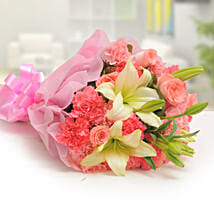 Ravishing Mixed Flowers Bouquet: Send Gifts to Sachin