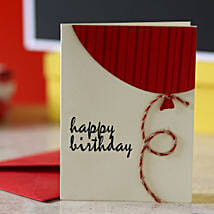 Red Balloon Birthday Greeting Card: Greeting Cards