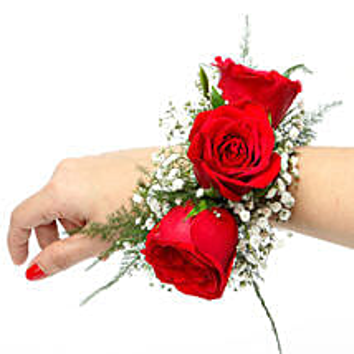 Red Rose Fresh Flower Bracelet: